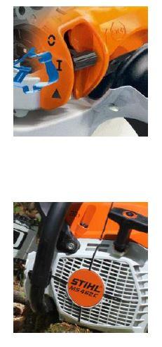 Motofierăstrăul STIHL MS 462 - utilizare facila - functie stop si marcaje